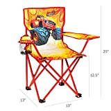 Nickelodeon Blaze & The Monster Machines Fold N' Go Chair with Storage Bag, Red