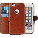 "iPhone 6, 6s Wallet Case - Ultra Slim, Light Case - Apple iPhone 6, 6s (4.7"") - Vintage Brown Leather (PU) - Credit Card Holder - Travel Wallet - Luxury Protection for Cases"