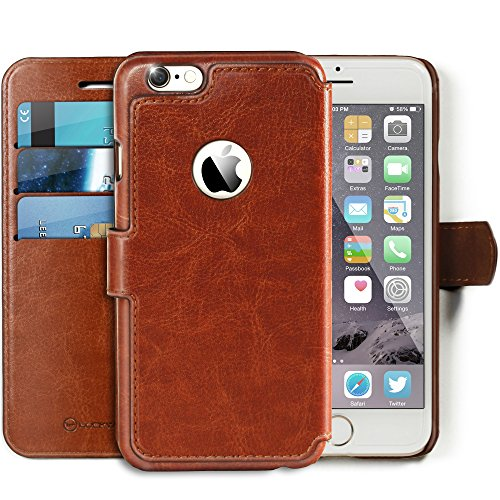 Lockwood iPhone 6/6s Folio Wallet Case | Vintage Brown | Travel Wallet With Card Holder | Ultra Slim & Lightweight Design | Classic Cases for Modern Devices | (4.7