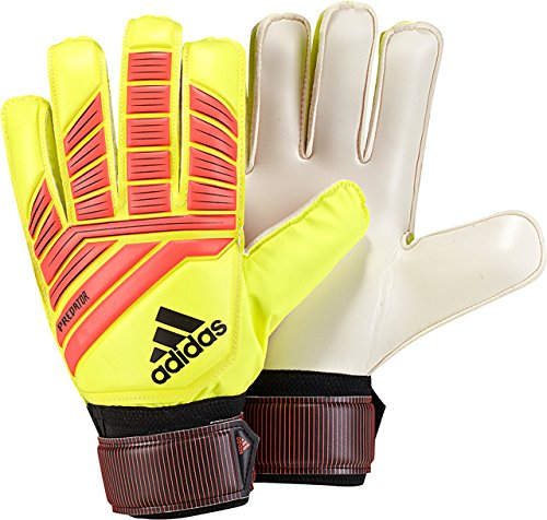 adidas F1806GL019 Predator Training Soccer Gloves, Solar Yellow/Solar Red/Black, Size - Soccer Ball Goalkeeper Training