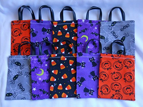 50s Teacher Costume (Lot of 10 HALLOWEEN MINI Gift Bags Teacher School Candy Card Pillowcase style)