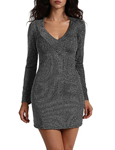 J. LOVNY Womens Long Sleeve V-neck Metallic Holiday Cocktail Dress Made In - Is Black In When Sale Friday Usa