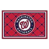 FANMATS MLB Washington Nationals Nylon Face 4X6 Plush Rug