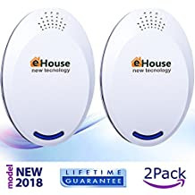 Ultrasonic Pest Repeller Electronic Repellent Best Plug in - Get Rid Of - Rodents, Squirrels, Mice, Rats, Insects - Roaches, Spiders, Fleas, Bed Bugs, Flies, Ants, Mosquitos, Fruit Fly, Pest Control!