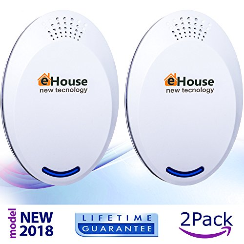 Ultrasonic Pest Repeller Electronic Repellent Best Plug in - Get Rid Of - Rodents, Squirrels, Mice, Rats, Insects - Roaches, Spiders, Fleas, Bed Bugs, Flies, Ants, Mosquitos, Fruit Fly, Pest Control! (Organic Squirrel Repellent)