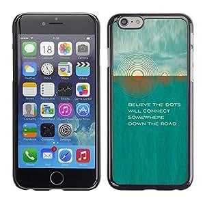 Paccase / SLIM PC / Aliminium Casa Carcasa Funda Case Cover para - Teal Sun Quote Beautiful Poem Nature - Apple Iphone 6