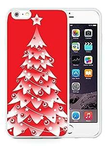 Custom Design iPhone 6 Plus Case,Christmas tree White iPhone 6 Plus 5.5 TPU Case 8