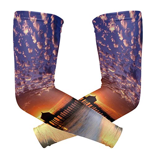Arm Sleeve Romantic Things To Do Los Angeles Sports Compression/UV Protection/Dry-Fast Breathable/Warmth for Men Women Cycling/Golf/Basketball 1 Pair]()