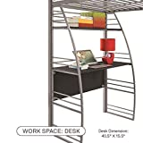 DHP Studio Loft Bunk Bed Over Desk and Bookcase