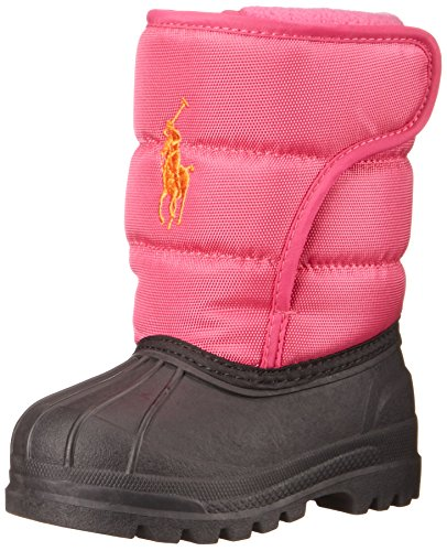 Polo Ralph Lauren Kids Hamilten II EZ Winter Fashion Boot (Toddler/Little Kid/Big Kid), Pink/Orange, 7 M US Big - Kids Polo Outlet