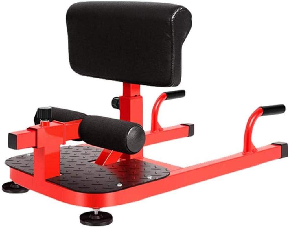 Sissy Squat Machine Home Máquina de Sentadillas multifunción para el hogar 6 Altura de Engranaje Marco de Soporte Ajustable en Forma de U Adecuado para Balcones Oficinas Gimnasios Uptodate