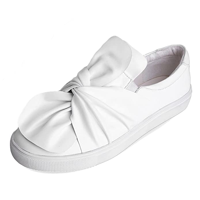 MatchLife Damen Knot Bogen Slip On Schuhe Casual Sneakers Style1-Schwarz EU38=Asian39 ODlpnK