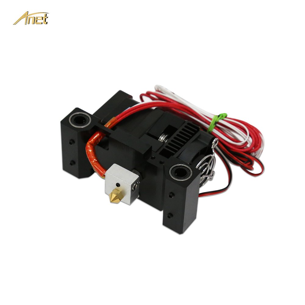 Anet MK8 Extruder Kit for Anet A6 3D Printer, Hot End Extruder Set Including - Extruder Motor, Cartridge Heater, Thermistor, Throat Tube, Heater Block, 0.4mm Nozzle, Cooling Fan and Heat Sink