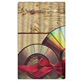 Phyllis Walker Red Ribbon Wood Beach Towel Soft Quick Dry Lightweight High Absorbent Pool Spa Towel for Men Women 31 X 51 Inch