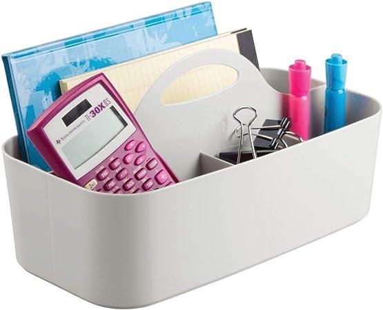mDesign organizador de escritorio o costurero en color gris claro - Caja con compartimentos - Guardatodo con múltiples usos - Con divisiones para guardar hilos, agujas o botones: Amazon.es: Hogar