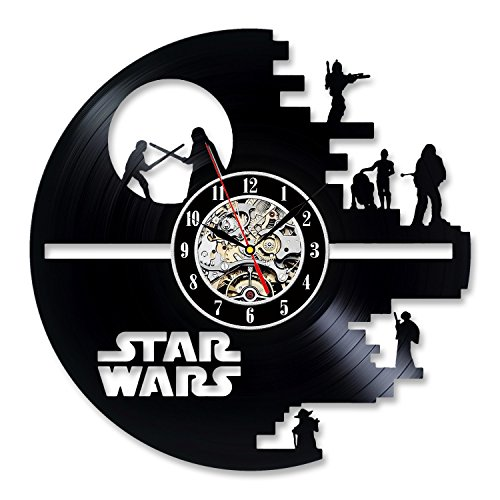Vinyl Music Record Wall Clock Gift for Star Wars Lovers