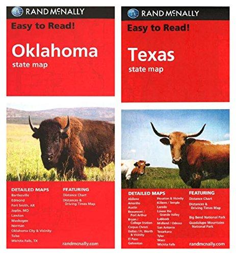 Rand McNally State Maps: Oklahoma and Texas (2 Maps)