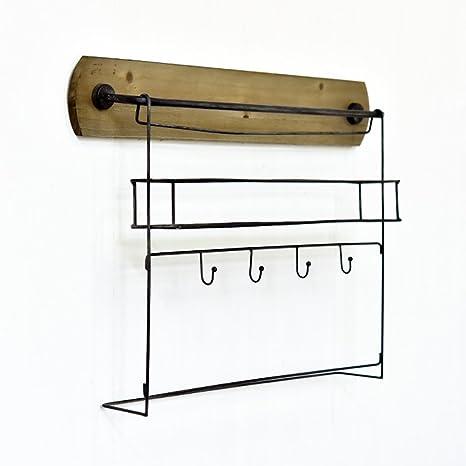Amazon.com: ZEMIN - Perchero de pared para colgar ropa ...
