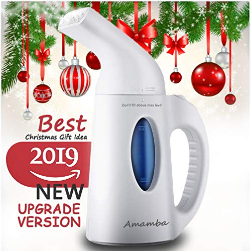 Amamba Portable Handheld Travel Garment Steamer 7-in-1 Powerful Multi Use: Clothes Wrinkle Remover-Clean-Sanitize-Refresh-Treat-Defrost. Perfect for Fabric/Home/Face/Facial/Mini Clothes Steamer, White