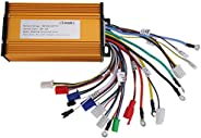 Motor Controller, E‑Bike Brushless Speed Motor Controller for Electric Scooter Three‑Mode Sinusoid 12 Tube