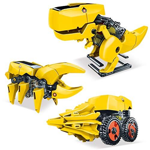 PICASSOTILES 줄기는 아이들이 태양 강화된 공룡 로봇 교육 학습 공학물 장난감 3-IN-1 창조적인 고유 변환 태양 재생 가능 에너지는 과학 실험 DIY 장비 소년은 8 세+
