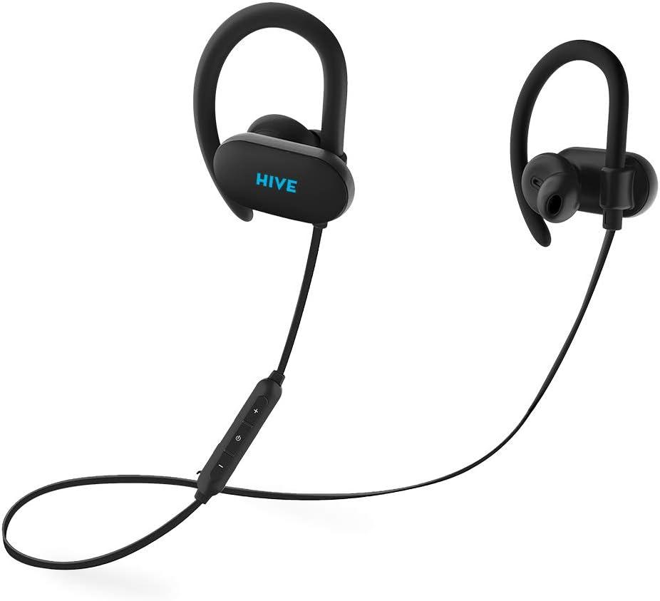 Niceboy® HIVE Sport 2 Wireless 5.0 Bluetooth Auriculares – Auriculares inalámbricos y resistentes al agua Max-Bass HD estéreo y calidad de sonido HD con micrófono