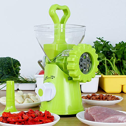 SECDIN Multi-functional Manual Vegetable Grinder, Food Masher Chopper,Sausage Stuffer Beef Meat Mincer, Kitchen Tool Processors by SECDIN
