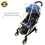 Baby Stroller Rain Cover Universal | Best for Umbrella, Lightweight, Jogger Strollers. Waterproof Weather Shield for All Protection - Snow, Dust, Wind - Transparent and Easy Fit with a Large Window