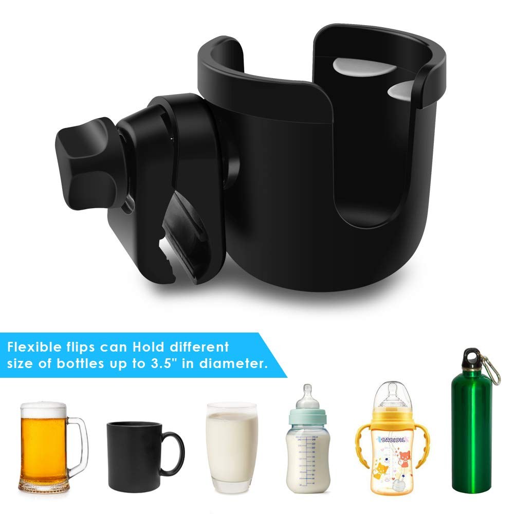 BROTOU Universal Cup Holder Stroller Cup Holder for Wheelchair Pushchair Walker Bicycle 360 Degrees Rotation Cup Drink Holder