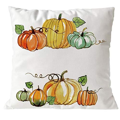 YOcheerful Halloween Pumpkin Cusion Cover Sofa Bed Car Decor Pillow Cover (A-E,45cm45cm) -