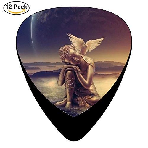 Buddha Guitar Picks Celluloid Medium 12 Pack Complete Cool Custom (Tron Legacy Fall)
