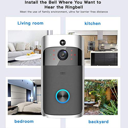 hellvery Home Wireless Remote Monitoring Real-Time Two-Way Talk Video Doorbell Remote Home Monitoring Systems
