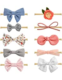 Baby Girl Headbands and Bows, Newborn Infant Toddler Hair...