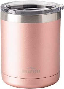 Monoprice Lowball Tumbler - 10 fl. oz. Rose Gold, BPA-Free, Sweatproof, 2X Wall Vacuum Insulated - Pure Outdoor Collection