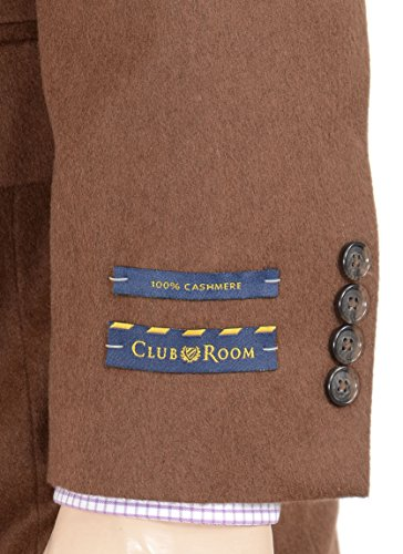 Club Room Estates 40L Solid Vicuna Brown Cashmere Two Button Blazer Sportcoat