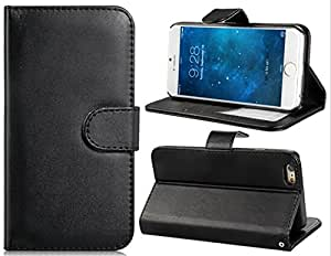 4.7'' Faux Leather Flip Case with Mount Stand & Credit Card Slots for iPhone 6 (Black)