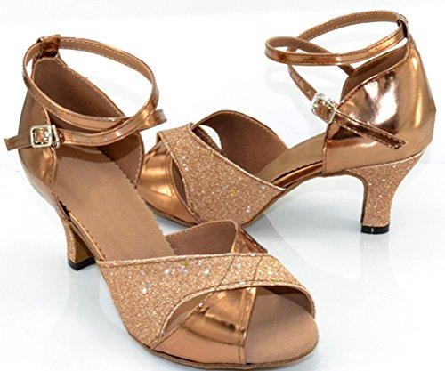 Cinturino Alla Caviglia Per La Festa Della Salsa Latino Di Fifly Per Le Scarpe Da Ballo Professionali Marrone