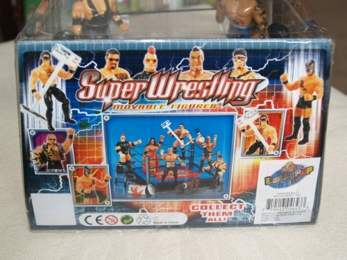 Wrestling Hardcore Game - World Hardcore Champion Super Wrestling Movable Figures and Battle Ring with Accessories