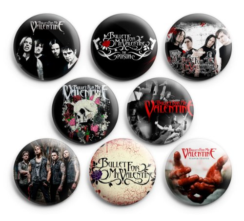 Bullet For My Valentine Pinback Buttons 8Pcs 1.25 inch