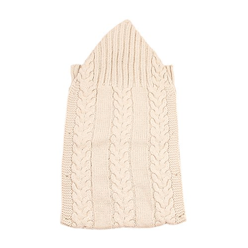 Amazon.com: E-HOO Unisex Newborn Baby Wrap Swaddle Blanket Knitting Toddler Blanket Colorful Sleeping Bag for 0-1 Year Baby(Beige): Baby
