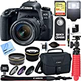 Canon EOS 77D 24.2 MP Digital SLR Camera Wi-Fi & Bluetooth with EF-S 18-55mm IS STM Lens + 64GB Extreme SDXC Memory UHS-I Card + Accessory Bundle