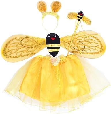 Happyyami Conjunto de disfraz de abeja de 4 piezas con diadema ...