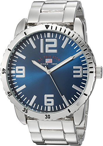 U.S. Polo Assn. Men's Quartz Metal and Alloy Casual Watch, Color:Silver-Toned (Model: us8616)