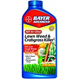 Bayer Advanced 704140 All-in-One Lawn Weed and Crabgrass Killer Concentrate, 32-Ounce
