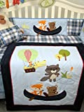 SoHo Let's Go Fishing Baby Crib Nursery Bedding Set 11 pcs included Diaper Bag with Changing Pad & Bottle Case