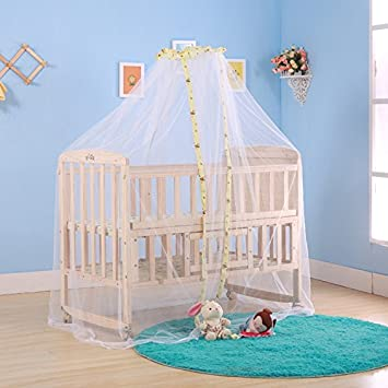 Mosquito Netting for Baby Crib Canopy Bed Cover with White Mesh Playpen Dome Princess & Amazon.com : Mosquito Netting for Baby Crib Canopy Bed Cover with ...