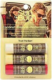 Sun Bum SPF 30 Sunscreen Lip Balm   Vegan and Cruelty Free Broad Spectrum UVA/UVB Lip Care with Aloe and Vitam