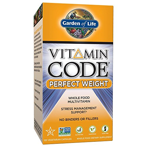 Garden of Life Multivitamin for Weight Management - Vitamin Code Perfect Weight Raw Whole Food Vitamin Supplement, Vegetarian, 120 ()