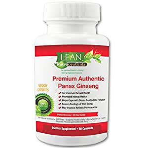 90Ct! 1000mg/serv Red Korean Asian Panax Ginseng 4:1 Extract Sourced in Asia for Max RG1, RB1 & RB2 Ginsenoside Concentrations! Veggie Caps made in USA, FDA inspected GMP certified-LEAN Nutraceuticals