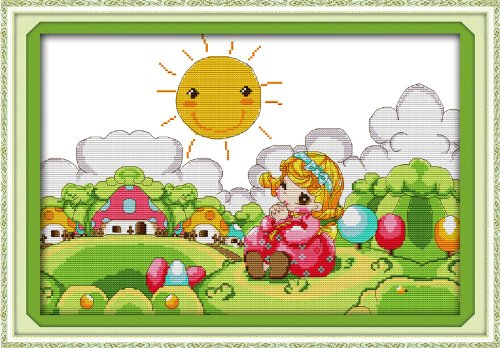 Happy Forever Cross Stitch, Cartoon ,The girl in the fairy t